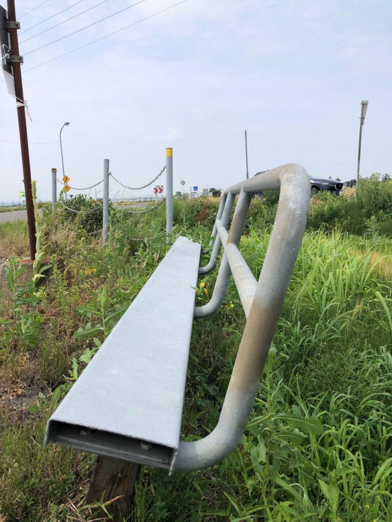 南幌のバス停